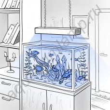 """Фито лампа для аквариумных растений """"Мерга"""""""